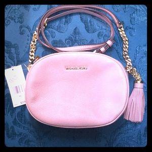 Michael Kors Ginny MD Messenger Bag Fawn Leather!